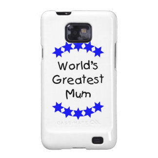 World s Greatest Mum blue stars Samsung Galaxy S Case
