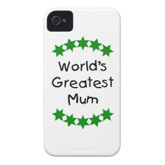 World s Greatest Mum green stars Blackberry Cases
