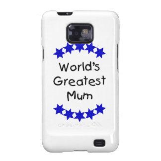 World s Greatest Mum navy stars Samsung Galaxy Cases