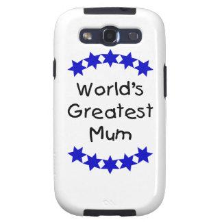 World s Greatest Mum navy stars Samsung Galaxy S3 Covers