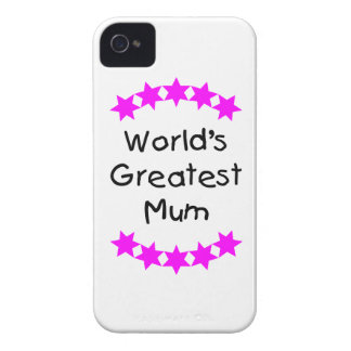World s Greatest Mum pink stars Blackberry Bold Cases