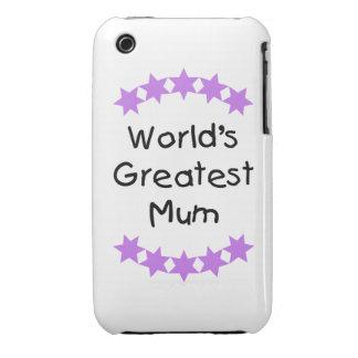 World s Greatest Mum purple stars iPhone 3 Covers