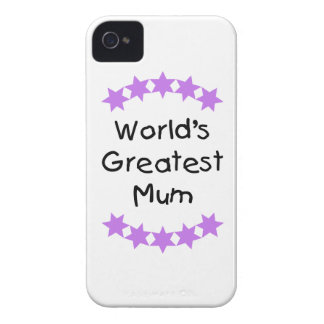 World s Greatest Mum purple stars Blackberry Bold Case
