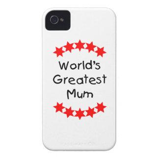 World s Greatest Mum red stars Blackberry Bold Cases