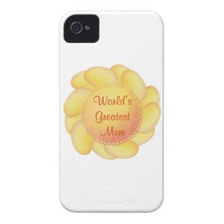 World s Greatest Mum yellow flower Case-Mate Blackberry Case