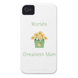 World s Greatest Mum yellow flowers Blackberry Bold Case