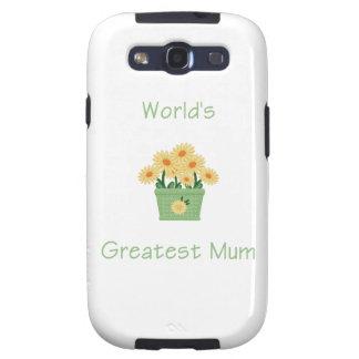 World s Greatest Mum yellow flowers Galaxy SIII Case