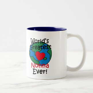 World's Greatest Nonna Heart Two-Tone Coffee Mug