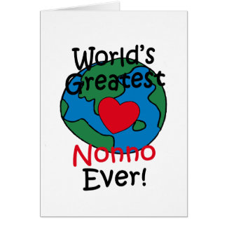 World's Greatest Nonno Heart Greeting Card