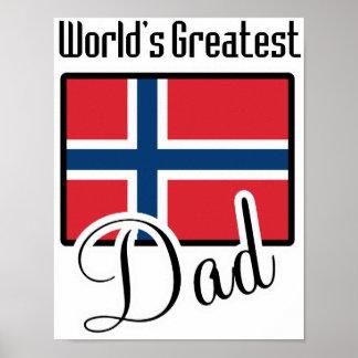 World s Greatest Norway Dad Print
