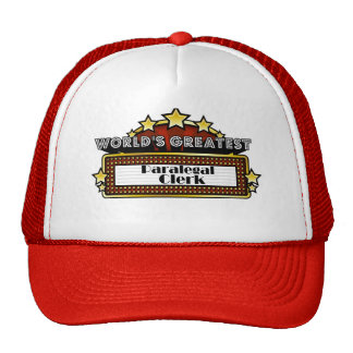 World s Greatest Paralegal Clerk Mesh Hat
