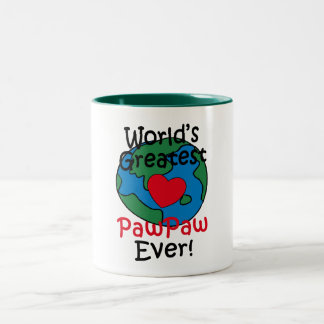 World's Greatest PawPaw Heart Two-Tone Coffee Mug