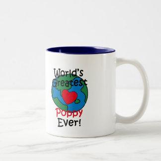 World's Greatest Poppy Heart Two-Tone Mug