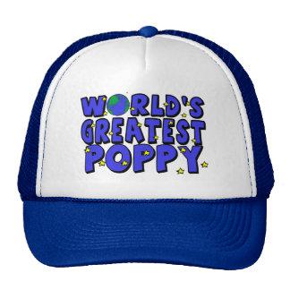 World s Greatest Poppy Mesh Hat