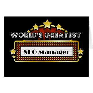 World s Greatest SEO Manager Greeting Card