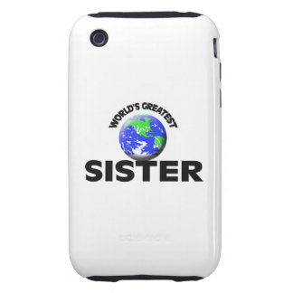 World s Greatest Sister Tough iPhone 3 Cover