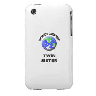 World s Greatest Twin Sister iPhone 3 Cases