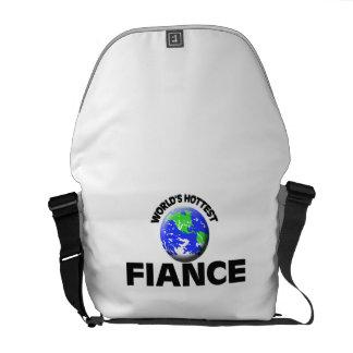 World s Hottest Fiance Courier Bag
