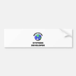 World s Hottest Systems Developer Bumper Sticker
