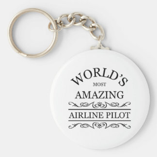 World s most amazing Airline Pilot Key Chain