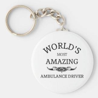 World`s most amazing Ambulance Driver Basic Round Button Key Ring