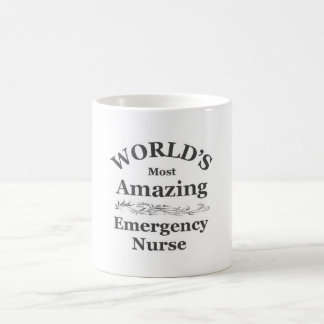 World[s most amazing Emergency Nurse Basic White Mug