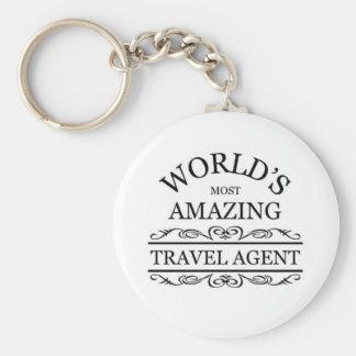 World s most amazing Travel Agent Key Chain