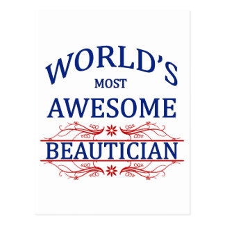 World s Most Awesome Beautician Post Card