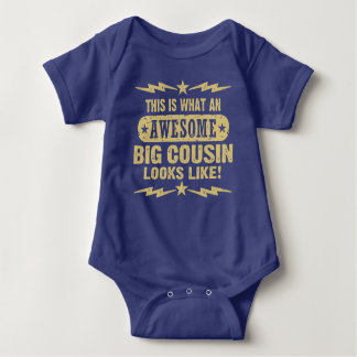 World's Most Awesome Big Cousin Baby Bodysuit