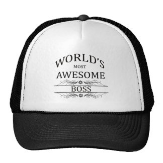 World s Most Awesome Boss Mesh Hats