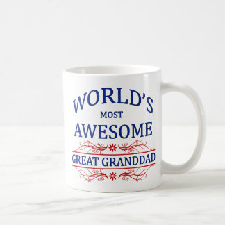 World s Most Awesome Great Granddad Mug