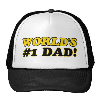 World s number 1 dad hats