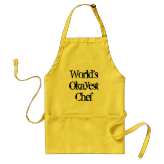 World s okayest chef Funny bbq apron for men