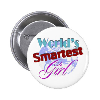 World s Smartest Girl Pinback Button