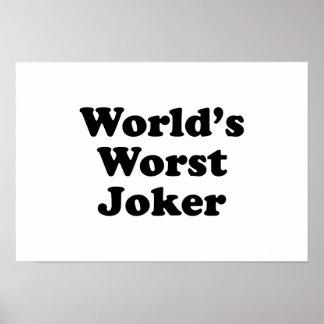 World s Worst Joker Print
