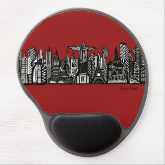 World Skyline Gel Mouse Pad