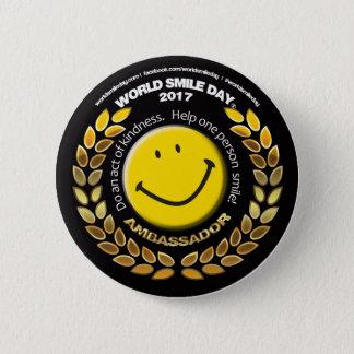 World Smile Day Ambassador 2017 Button