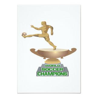 World Soccer Champions 13 Cm X 18 Cm Invitation Card