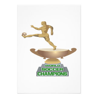 World Soccer Champions Personalized Invitation