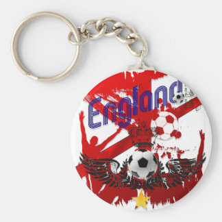 World Soccer - England flag football ball gift Keychains