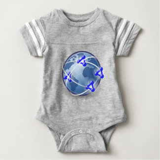 World Social Network Baby Bodysuit