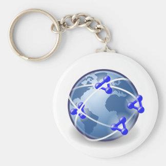 World Social Network Key Ring