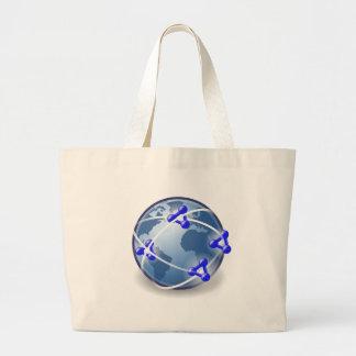 World Social Network Large Tote Bag