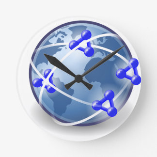 World Social Network Round Clock