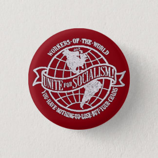 World Socialist Party of the United States red 3 Cm Round Badge