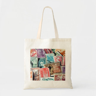 World Stamp Collage Bag