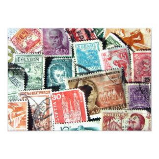 World Stamp Collage Invitation