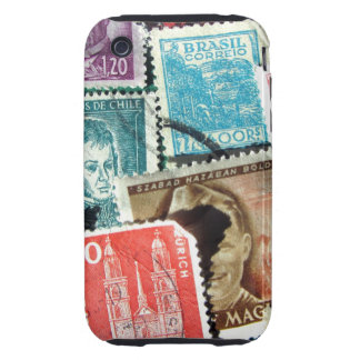 World Stamp Collage iPhone 3 Case-Mate Tough Tough iPhone 3 Covers