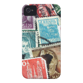 World Stamp Collage iPhone 4/4S Barely There Case iPhone 4 Case-Mate Cases