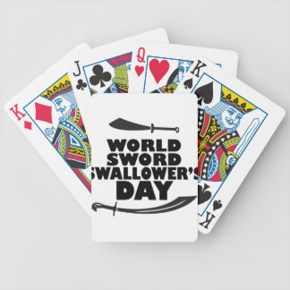 World Sword Swallower's Day - Appreciation Day Bicycle Playing Cards